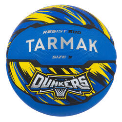 Ballon de basket enfant R500 T 5 Bleu jusqu'à 10 ans pour débuter.