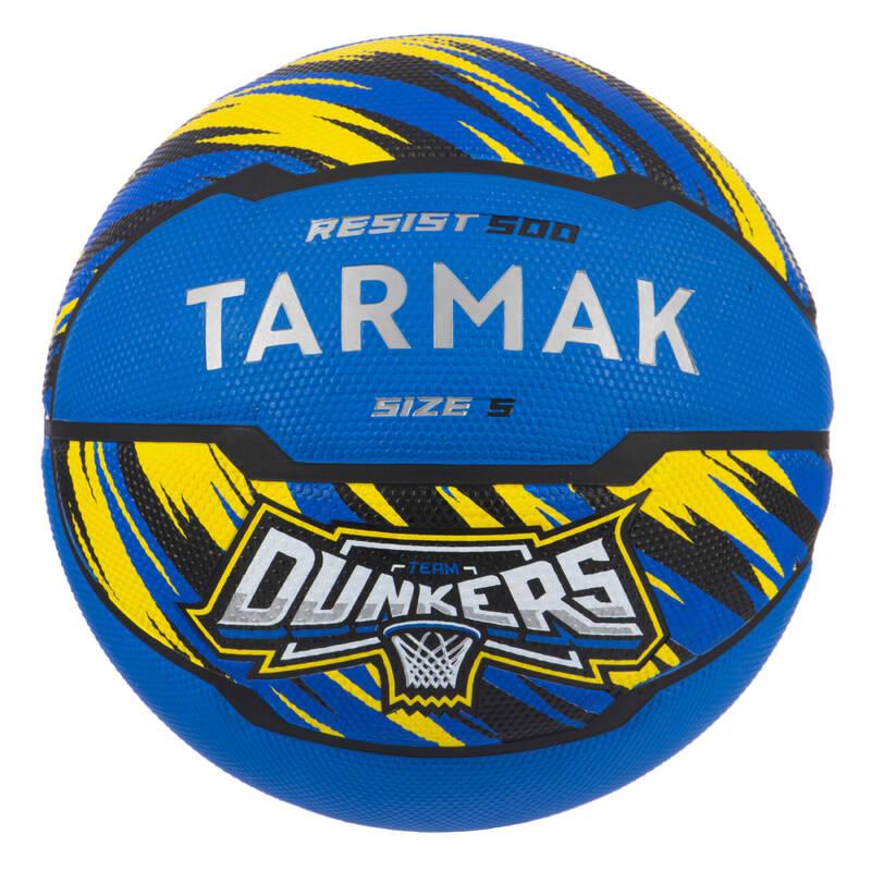 BASKETBALOVÉ MÍČE Basketbal - MÍČ RESIST 500 VEL. 5 TARMAK - Basketbalové míče