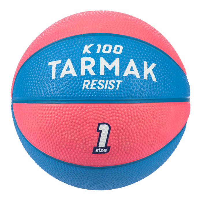 Mini B Kids' Size 1 Basketball Up to age 4.Pïnk/Blue