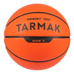 Basketbal voor kinderen en volwassenen R100 maat 7 oranje.