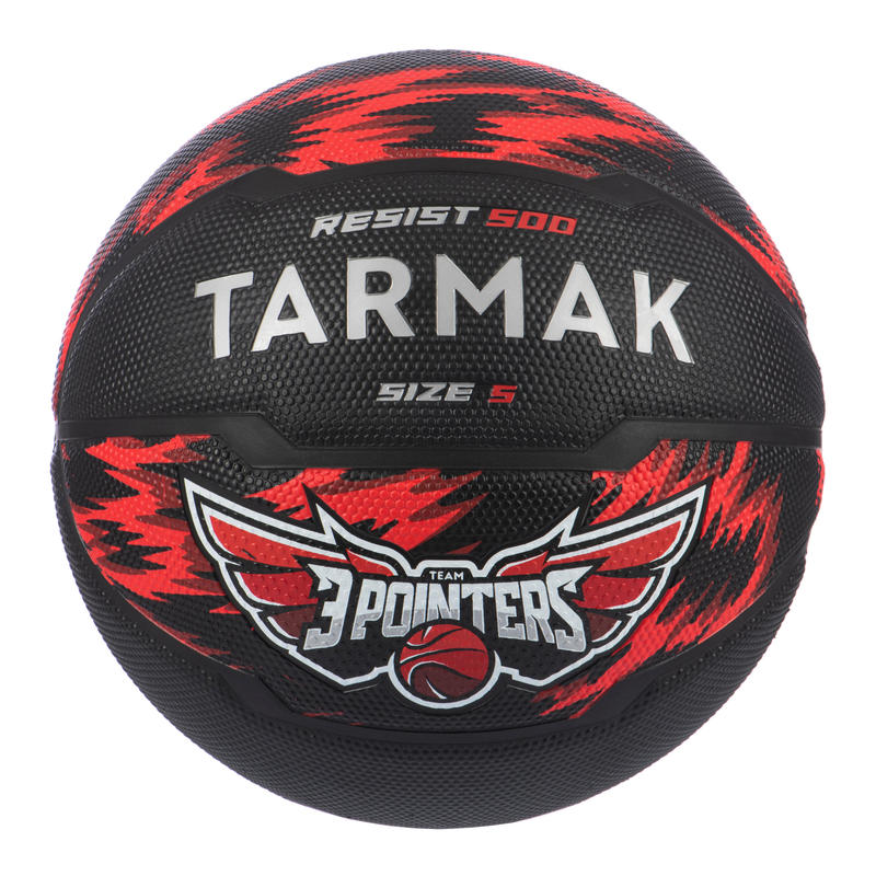 Kids' Size 5 (Up to 10 Years) Beginner Basketball R500 - Red/Black.