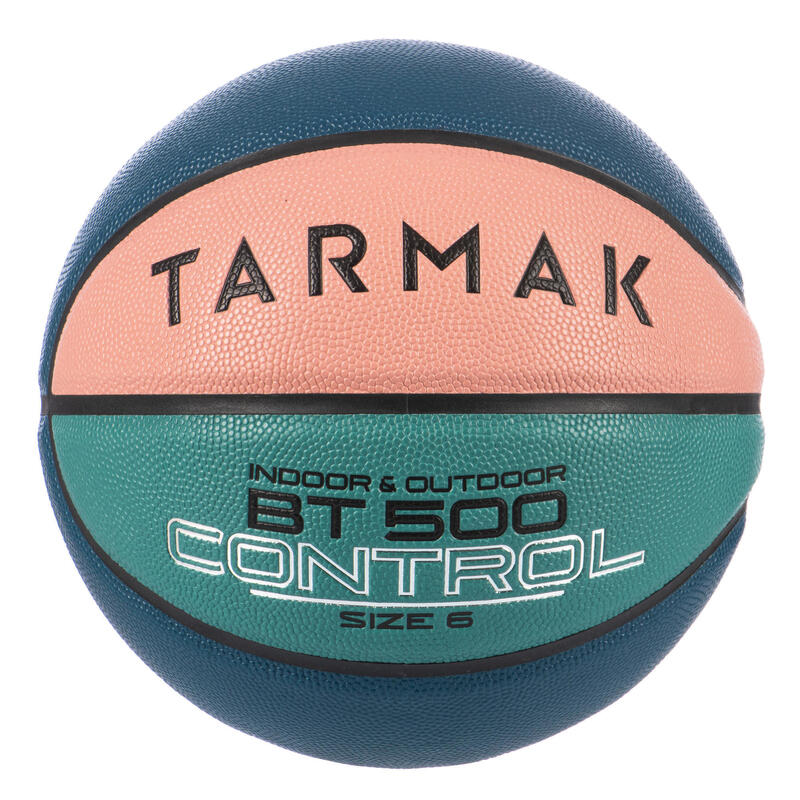 Ballon de basket BT500 taille 6 Rose Vert Bleu
