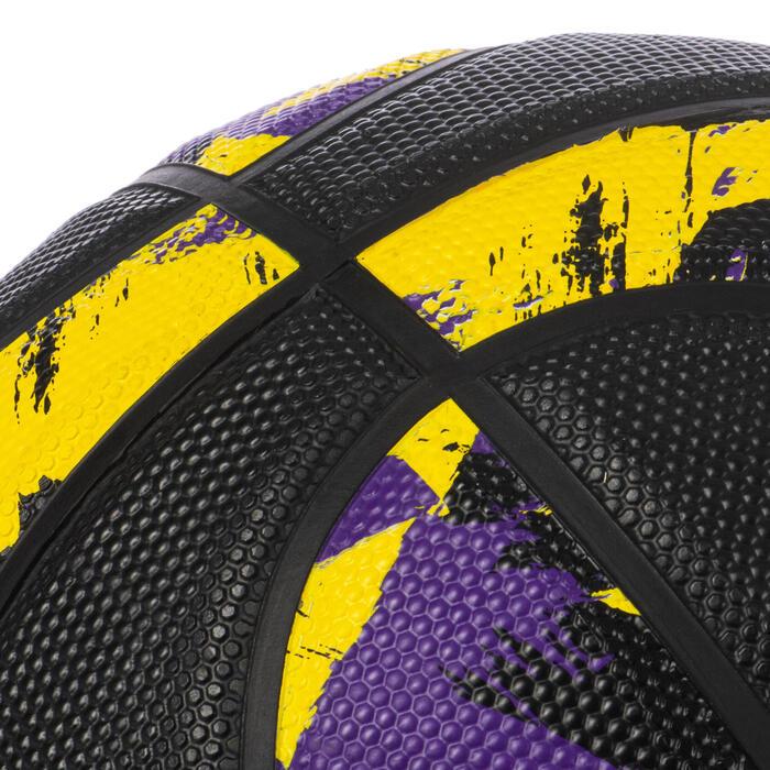 Ballon de basket homme R500 T7 7 Pourpre Noir à partir de 13 ans pour débuter.