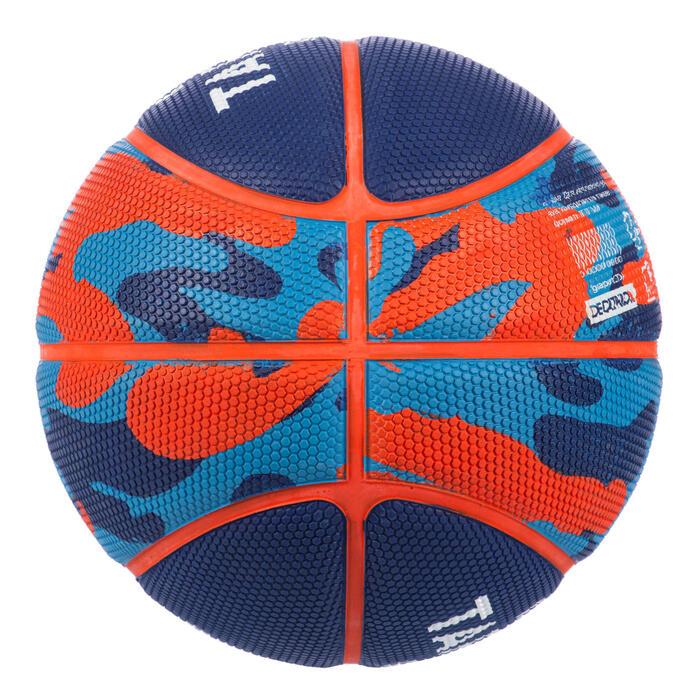 Ballon de basket enfant K500 taille 3 Bleu . Pour le baby-basket jusqu'à 6 ans