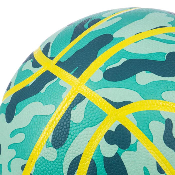 Basketball K500 Aniball Light & Soft Größe 4 Kinder grün/gelb