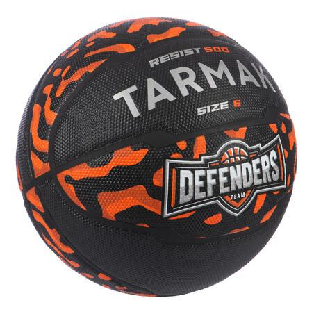 Kids'/Women's Size 6 Beginner Basketball R500 - Black/Orange
