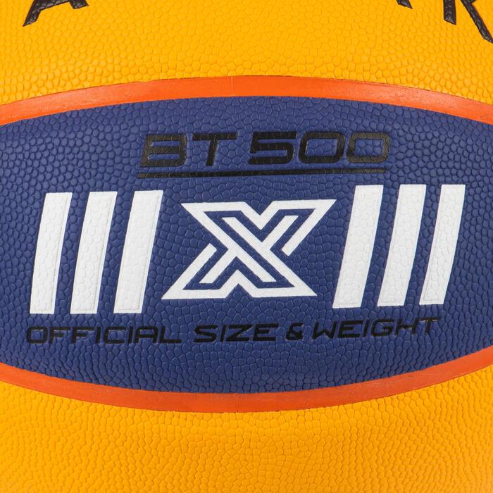 Ballon de basket BT500 pour la pratique basketball 3X3. Super toucher de balle.