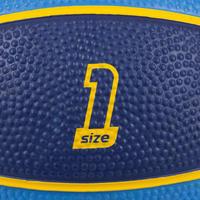 Minibalón de básquetbol junior Mini B talla 1, hasta 4 años. Azul