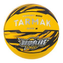 Bola de Basquetebol R500 Menina, Rapaz e Mulher Principiante Tamanho 6 Amarelo