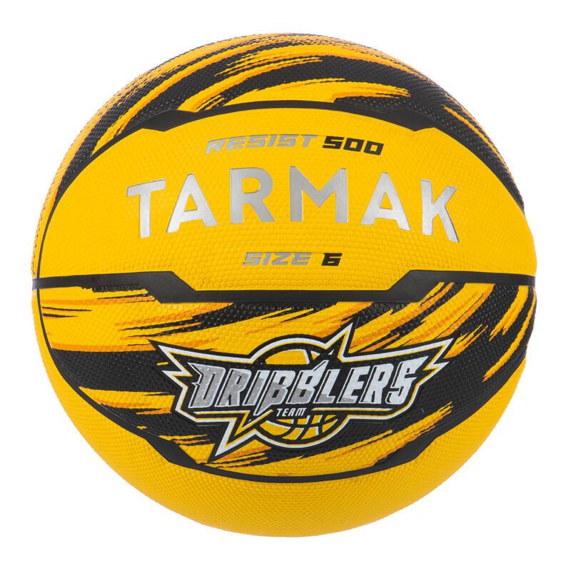 Ballon de basket R500 taille 6 Jaune pour fille garçon et femme pour débuter
