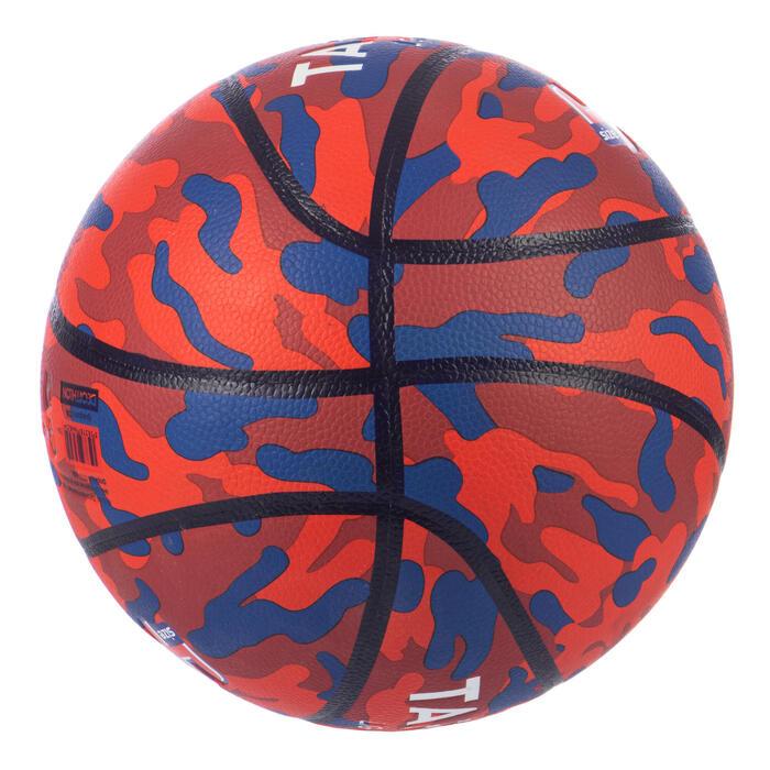 Basketball K500 Aniball Light & Soft Größe 4 für Kinder rot/blau