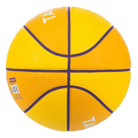 Mini balón de básquetbol junior Mini B talla 1Hasta 4 años.amarillo violeta