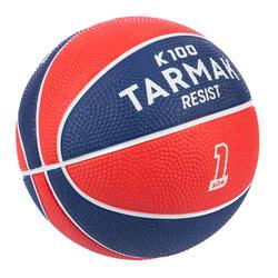 Basketball Mini K100 Gummi Größe 1 Für Kinder bis 4 Jahre rot/blau