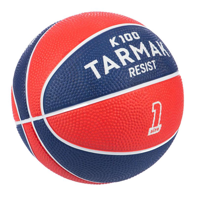 Minibasketbal Mini B maat 1 voor kinderen tot 4 jaar rood/blauw
