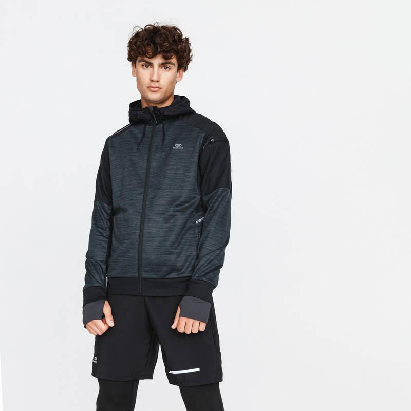 PÁNSKÉ OBLEČENÍ NA JOGGING, CHLADNÉ POČASÍ Běh - BUNDA RUN WARM+  KALENJI - Běžecké oblečení