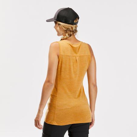 """Moteriški berankoviai merino vilnos marškinėliai """"Travel 500"""", geltoni"""