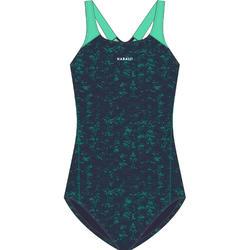 Maillot de bain une pièce de natation femme Kamyleon All Geo Green
