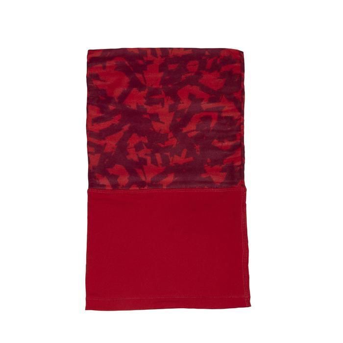 Nekwarmer in 2 materialen voor fietsen 500 camouflage rood