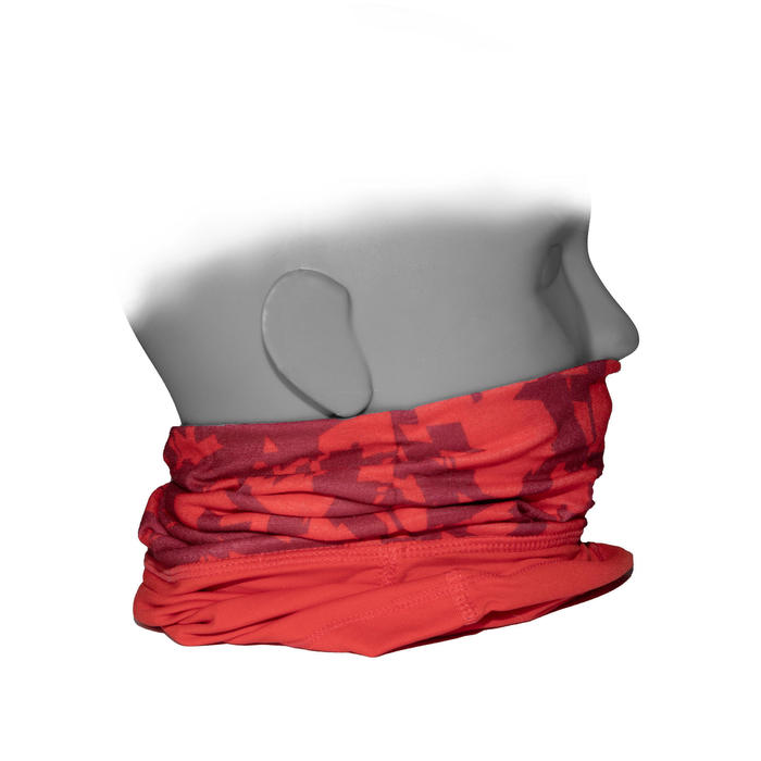 TOUR DE COU 500 BI-MATIERE camo rouge