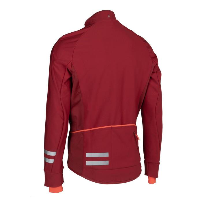 男款自行車冬季外套RC500 - 酒紅色
