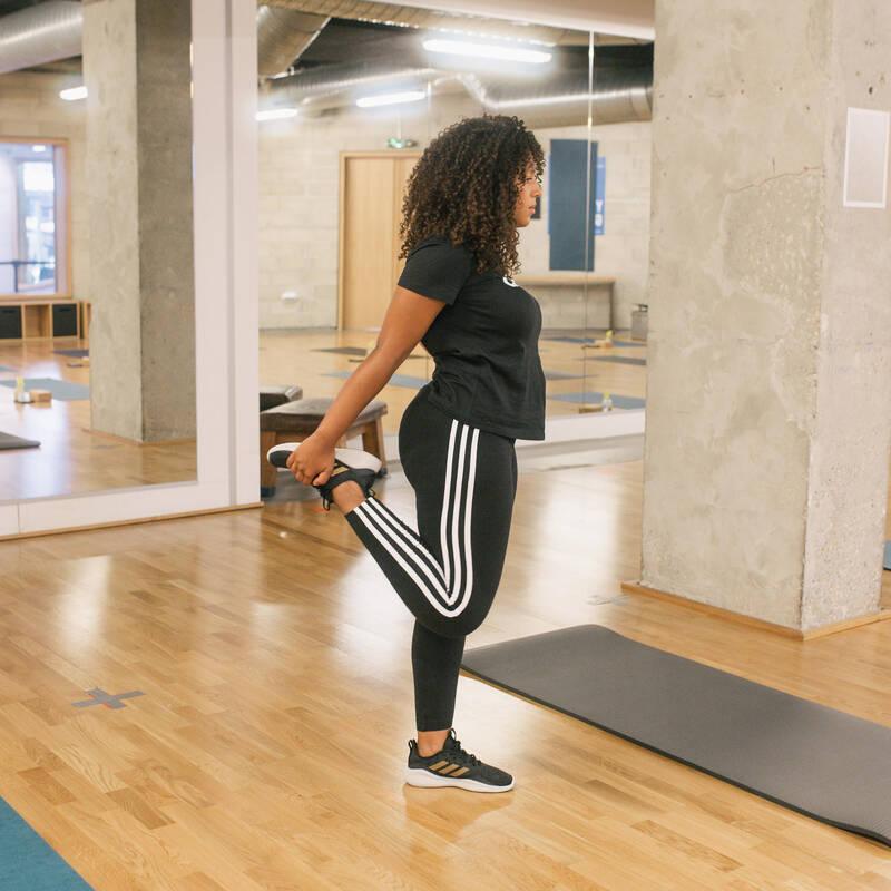 DÁMSKÁ TRIČKA, LEGÍNY, KRAŤASY Fitness - DÁMSKÉ LEGÍNY 3P ČERNÉ ADIDAS - Fitness oblečení a boty