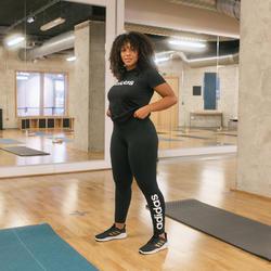 Legging Adidas Slim Femme Noir Imprimé