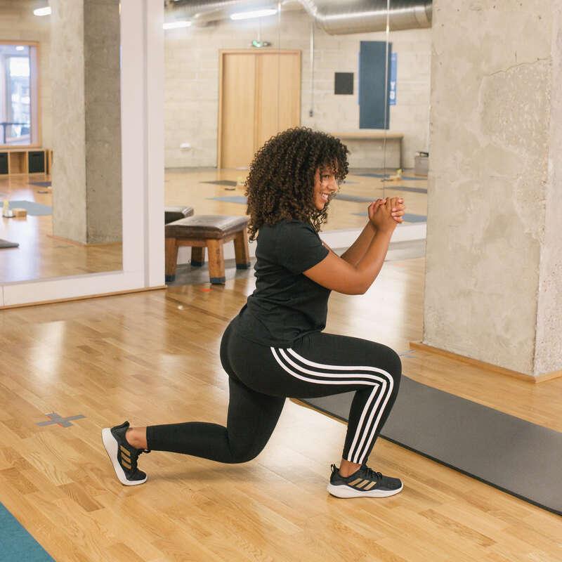 T-SHIRT LEGGINSY SHORT DLA KOBIET Fitness, siłownia - Legginsy 3S Adidas ADIDAS - Odzież i buty fitness