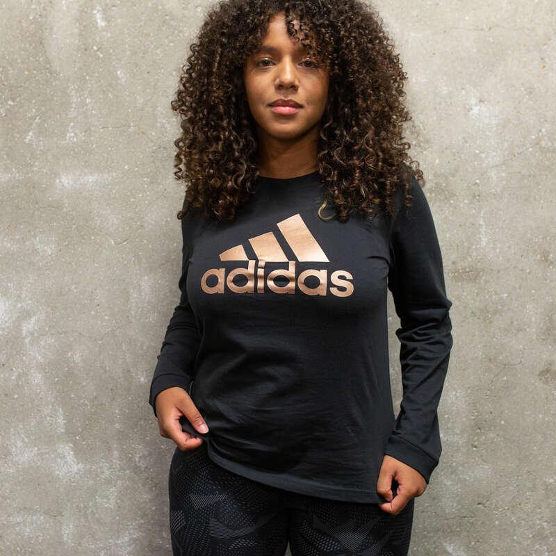 ÎMBRĂCĂMINTE TONIFIERE, PILATES FEMEI - Bluză Adidas negru ADIDAS