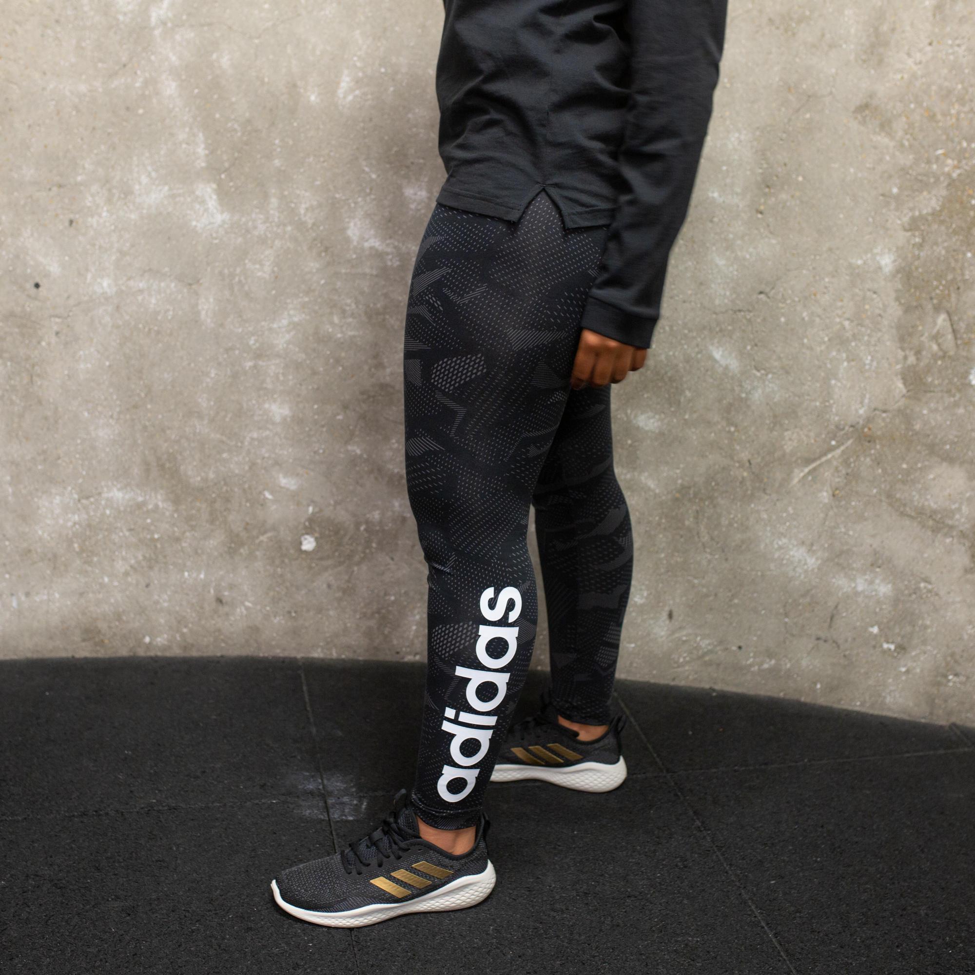 Women's Leggings - Black with Print