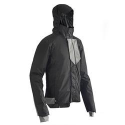 Warme regenjas voor op de fiets heren 500 zwart