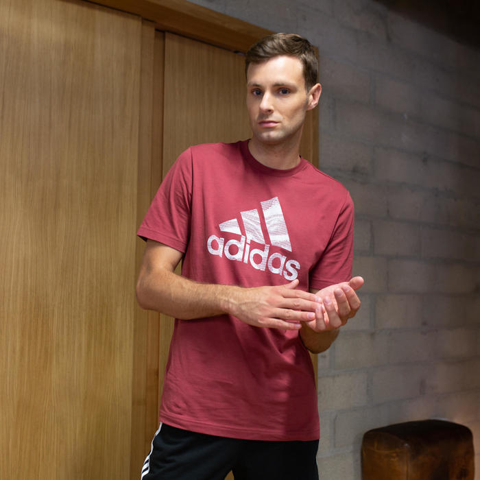 T- Shirt Adidas Regular Homme Bordeaux