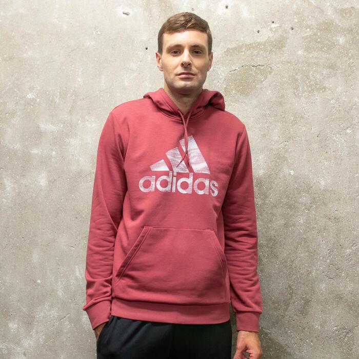 in breve nicotina Senso di colpa  Felpa con cappuccio uomo Adidas rossa ADIDAS | DECATHLON