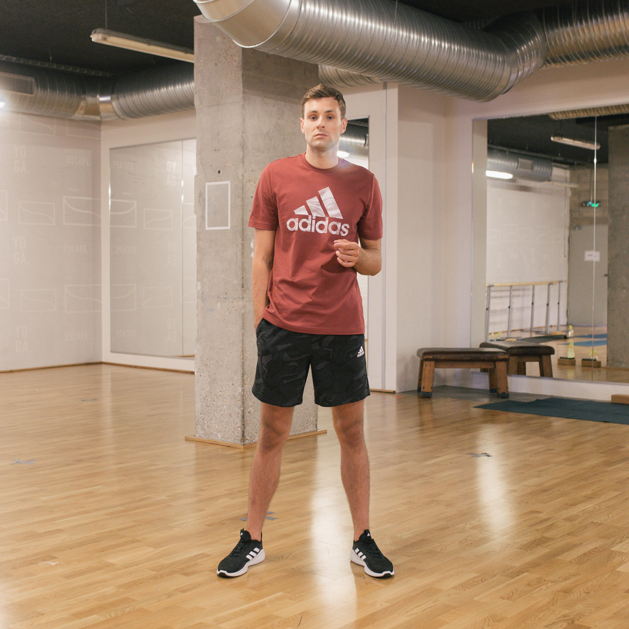 Șort Adidas pilates negru imagine