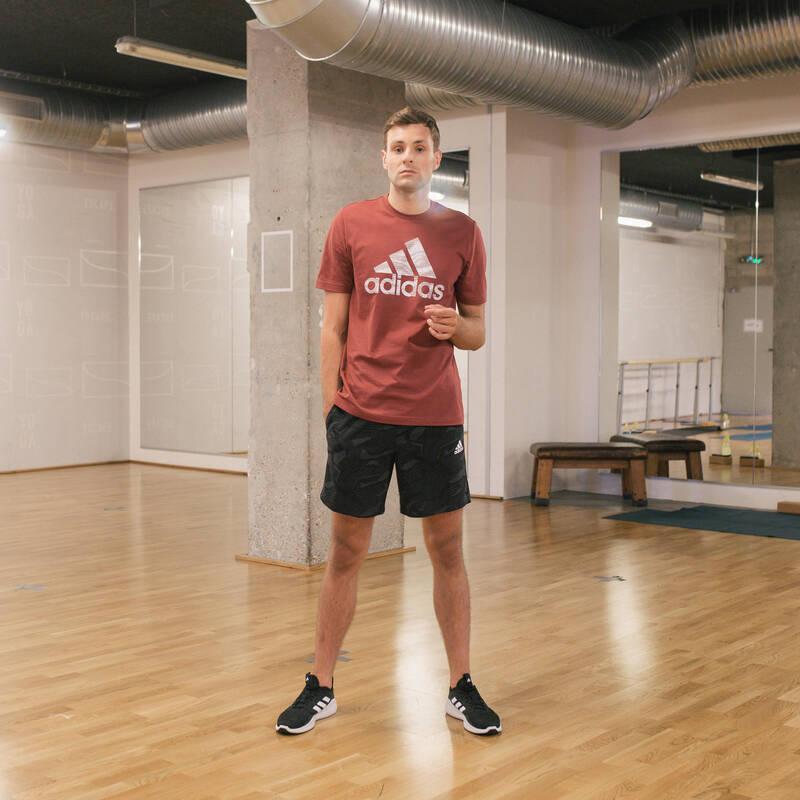 PÁNSKÁ TRIČKA, KRAŤASY Fitness - KRAŤASY ADIDAS ČERNÉ ADIDAS - Fitness oblečení a boty