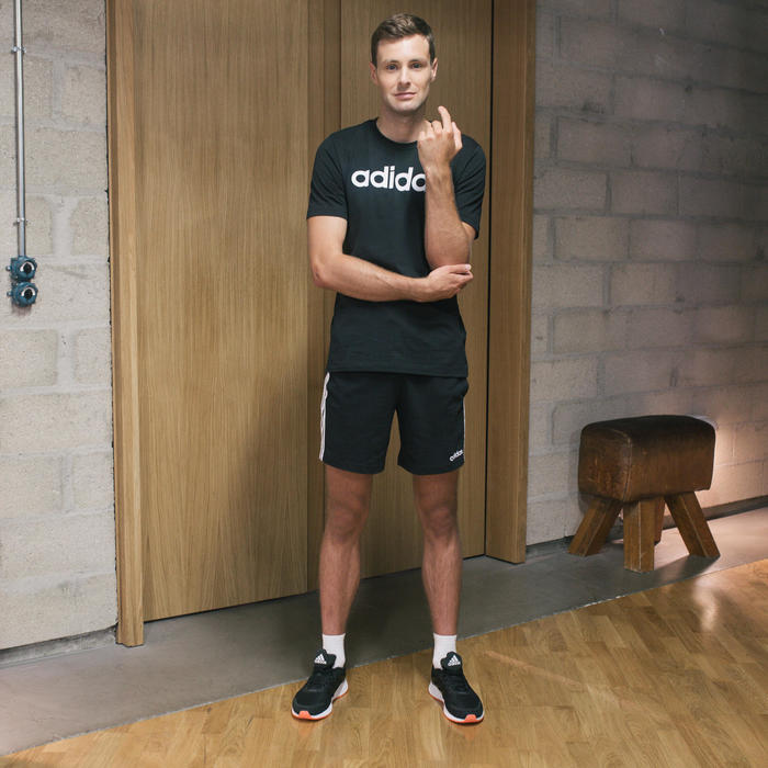 Short Adidas 3 bandes Regular Noir Homme