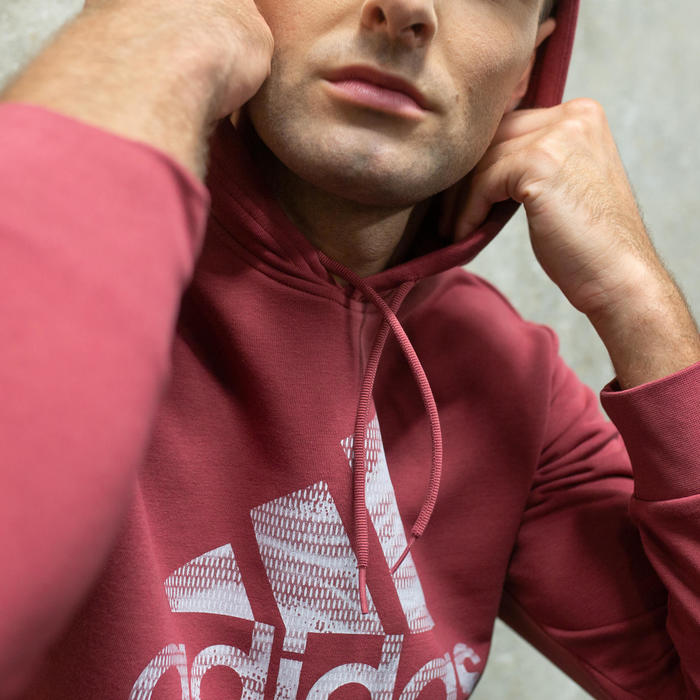 Sweat à Capuche Adidas Homme Rouge