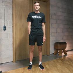 Short 3-stripes voor heren regular fit zwart