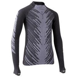 Sous-vêtement haut thermique Keepwarm 900 enfant football gris carbone