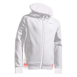 女孩款發熱網球外套 - 淺灰色