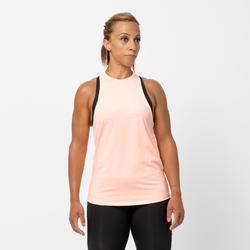 Débardeur cardio fitness femme rose clair