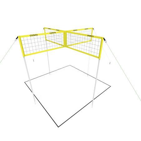 """Pludmales volejbola komplekts (tīkls un stabi) """"Multinet"""""""