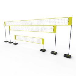Rede e Postes Voleibol de Praia BV500 Ajustáveis Amarelo (Conjunto)