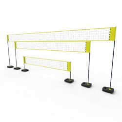 Set (Filet et poteaux) de beach volley BV500 ajustable Jaune