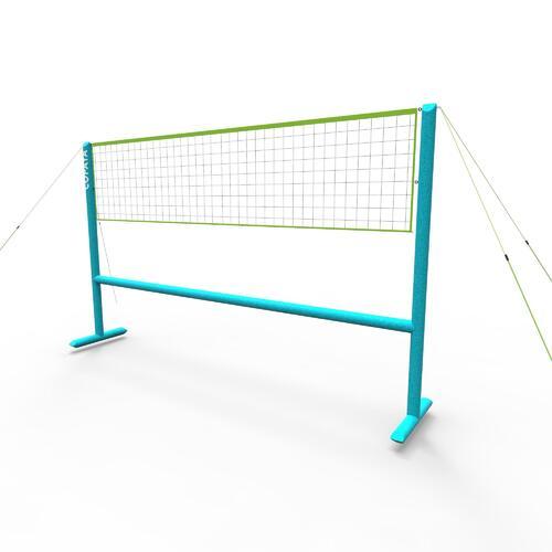 Set (Filet et structure) de Beach volley 500 gonflable bleu