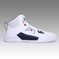 CHAUSSURES BASKETBALL POUR ADULTE H/F DEBUTANT | PROTECT 120 BLANC MARINE