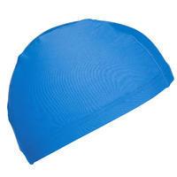 Bonnet de bain en tissu maille bleu taille P et G