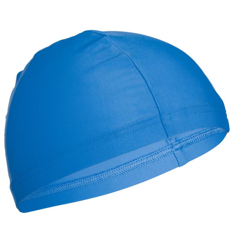 หมวกว่ายน้ำผ้าตาข่ายขนาด S และ L (สีฟ้า)