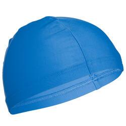 Badmuts textiel maat S en L blauw