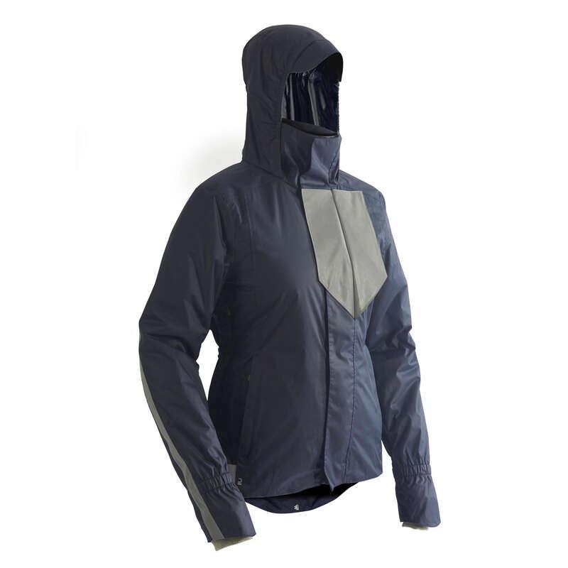 Városi kerékpáros ruházat hideg időre Kerékpározás - NŐI KERÉKPÁROS KABÁT 540-ES BTWIN - Kerékpáros ruházat