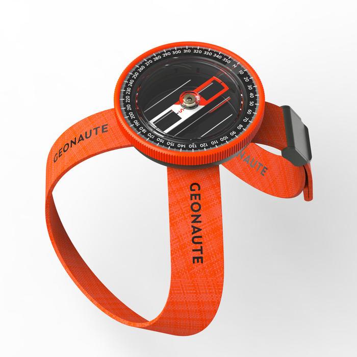 多功能腕帶指北針500-橙黑配色